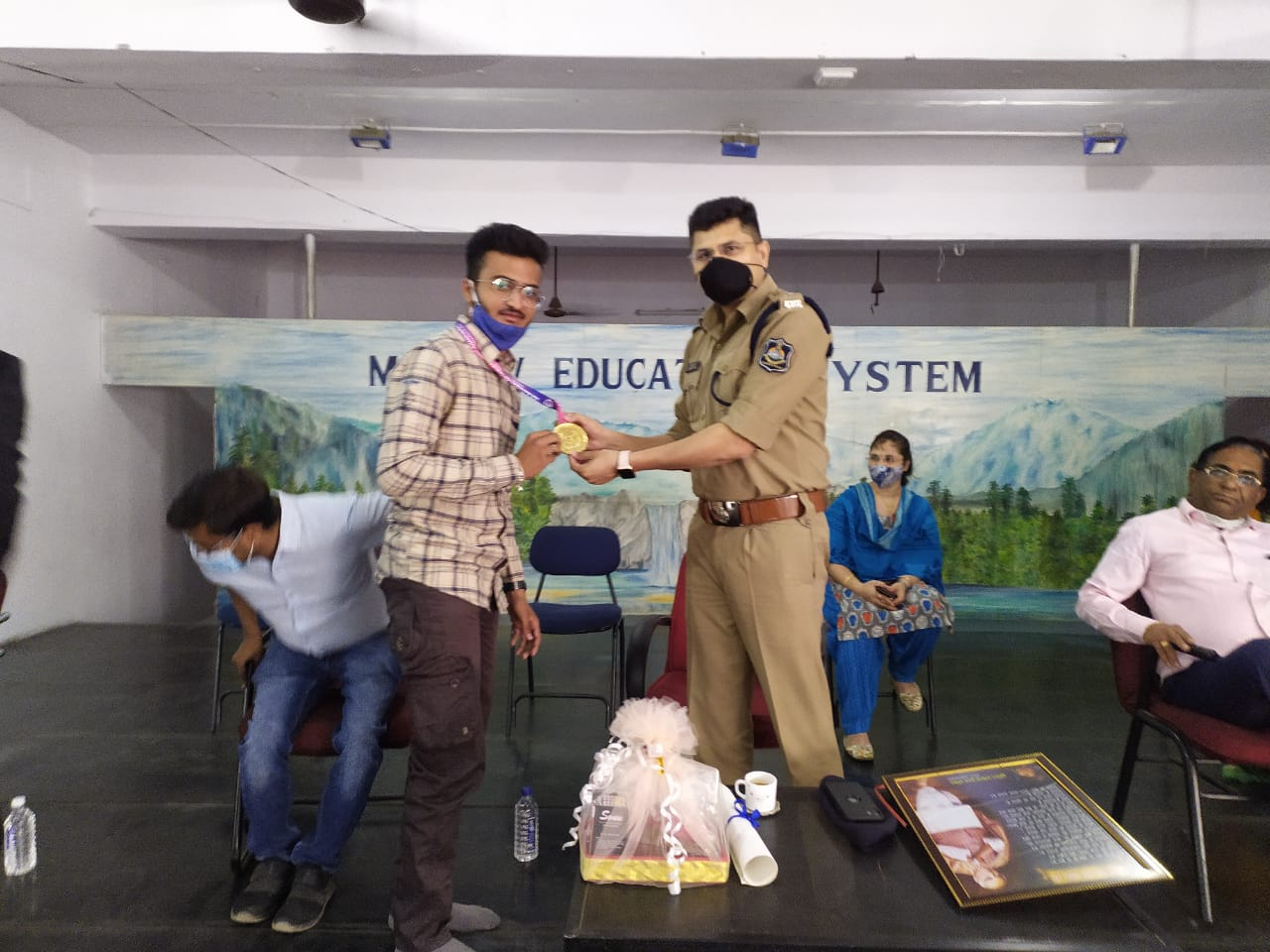 AN ENCOURAGING VISIT OF IPS OFFICER ACHAL TYAGI